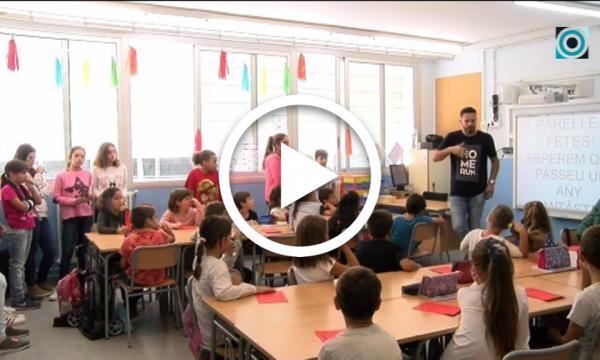 """Tercer any de """"Padrins lectors"""" a l'escola Abel Ferrater"""