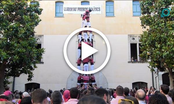 Una determinada Colla Vella estrena el pilar de 7 a la diada castellera de Festa Major