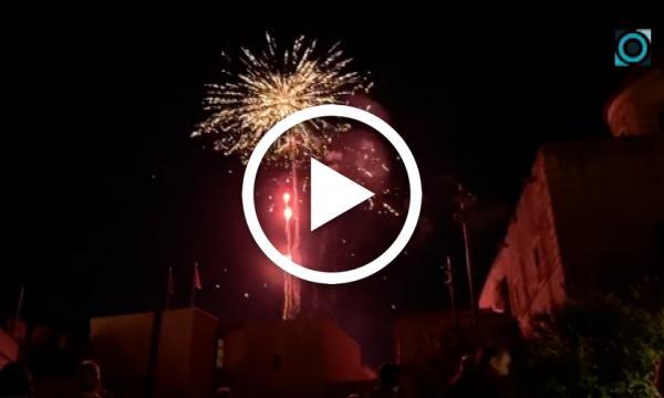 El castell de focs acomiada el cap de setmana de la Festa Major d'Estiu