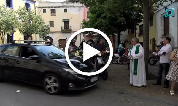 Els vehicles selvatans surten al carrer en la benedicció de Sant Cristòfor
