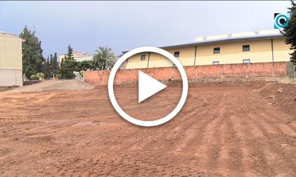 Comencen les obres de construcció del nou aparcament de vehicles a tocar del Pavelló