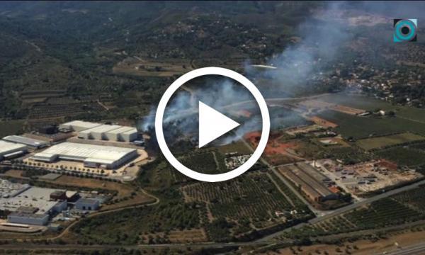 Nou ensurt per culpa de les flames entre el polígon Silva i la carretera de l'Albiol