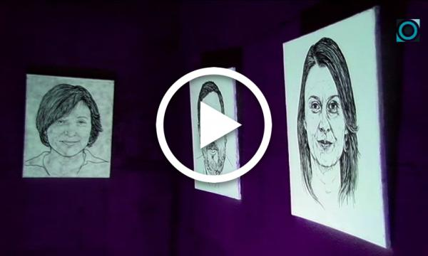 """L'artista selvatà Menpo presenta """"Llum dins la foscor"""", una instal·lació conceptual dedicada als presos polítics i exiliats"""