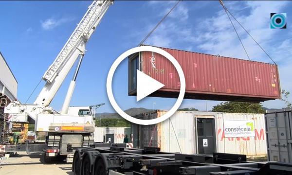 L'empresa Constècnia, encarregada de construir el bloc d'habitacles fabricats amb contenidors de mercaderies a Barcelona