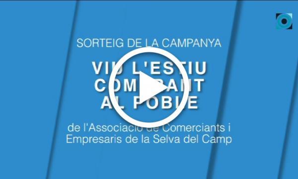 """Sorteig de la campanya """"Viu l'estiu comprant al poble!"""" de l'Associació de Comerciants i Empresaris"""