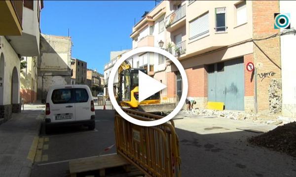 Comencen les obres de millora dels serveis del carrer Paretdelgada