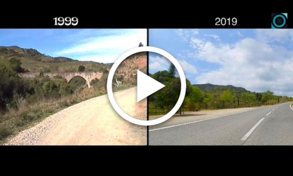 Comparativa de la carretera de la Selva a Vilaplana: 1999 i 2019