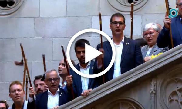 La Selva del Camp se suma a l'acte de rebuig a la sentència del Tribunal Suprem celebrat al Palau de la Generalitat