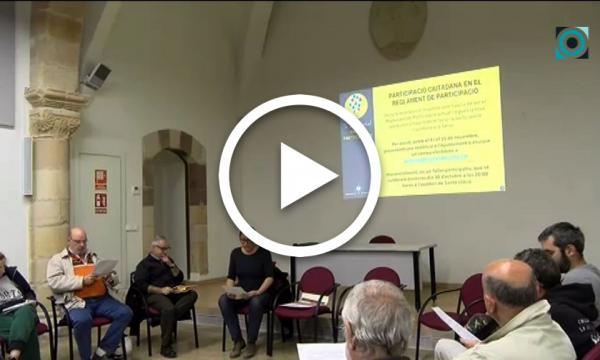 Entitats i Ajuntament es reuneixen per debatre el contingut del nou Reglament de Participació