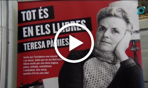"""L'exposició itinerant """"Teresa Pàmies. Tot és en els llibres"""" es podrà visitar fins el pròxim 23 de gener"""