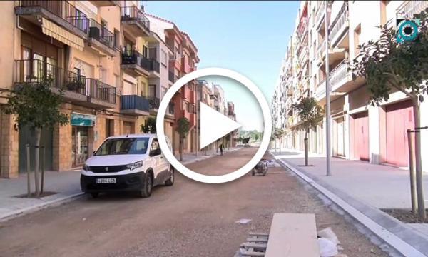 Les obres del carrer President Companys entren a la recta final amb la fase d'asfaltat