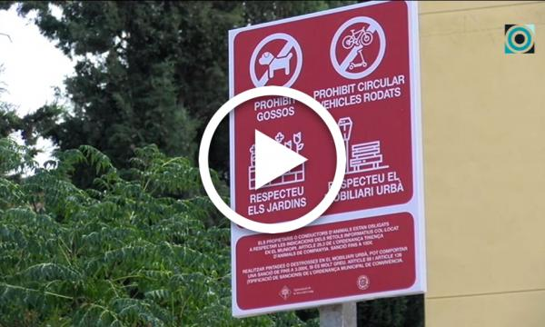 Restringida l'entrada de gossos als parcs públics i al camp de futbol