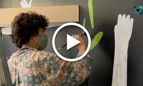 L'artista reusenca Alina Ballester deixa la seva empremta a la Selva