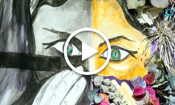 Art i natura es fonen per homenatjar a les supervivents de les violències