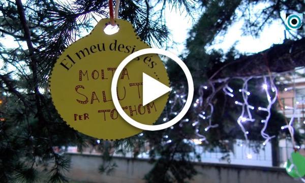Un arbre dels desitjos i l'enllumenat dels carrers donen la benvinguda al Nadal
