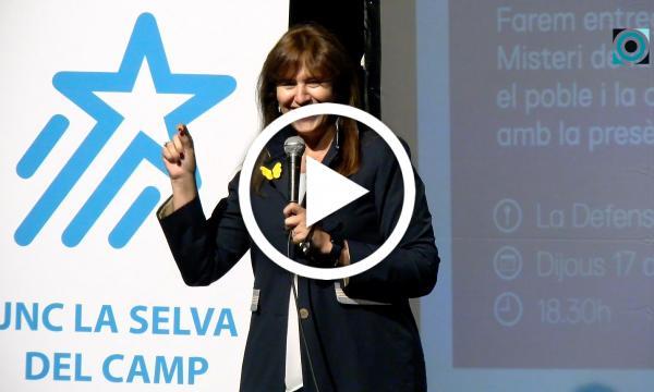 Laura Borràs, a la defensa del català i la cultura en l'homenatge al Misteri de la Selva