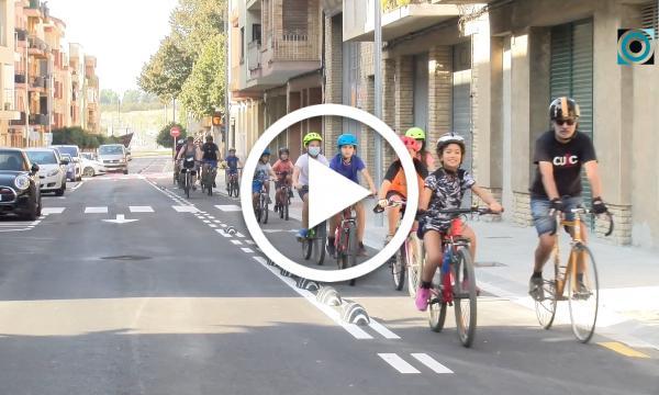 La Setmana de la Mobilitat Sostenible tanca amb una bicicletada popular i tallers de sensibilització