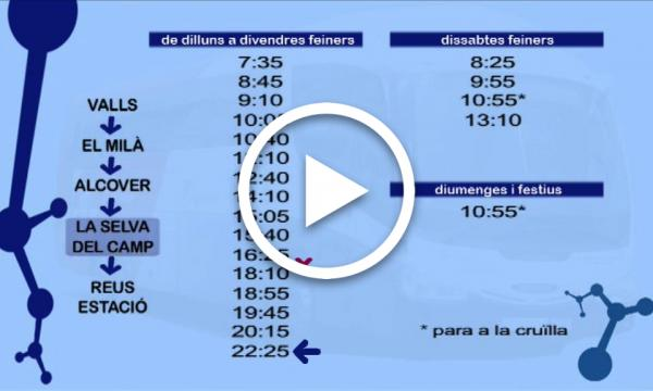 Canvi horari autobús