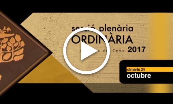 Ple Ordinari 24/10/2017 (1a part)