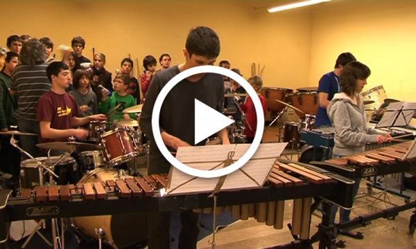 Trobada d'alumnes de percussió