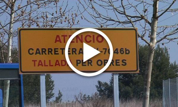 Tallat l'accés a Masies Catalanes